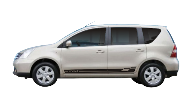 Faixa lateral Nissan Livina kit adesivo peças acessórios frisos LA X11Auto