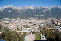 Innsbruck seen from Bergisel