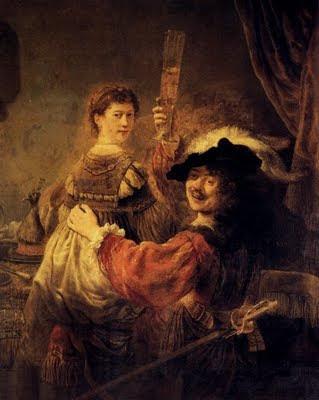 Autorretrato con Saskia - Rembrandt