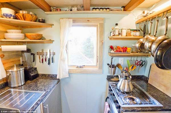 There is even room for a full (but tiny) kitchen.