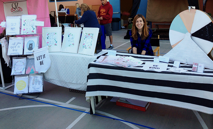 art prints craft fair booth
