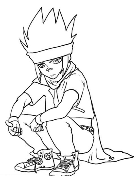 beyblade coloring pages gingka - photo#16