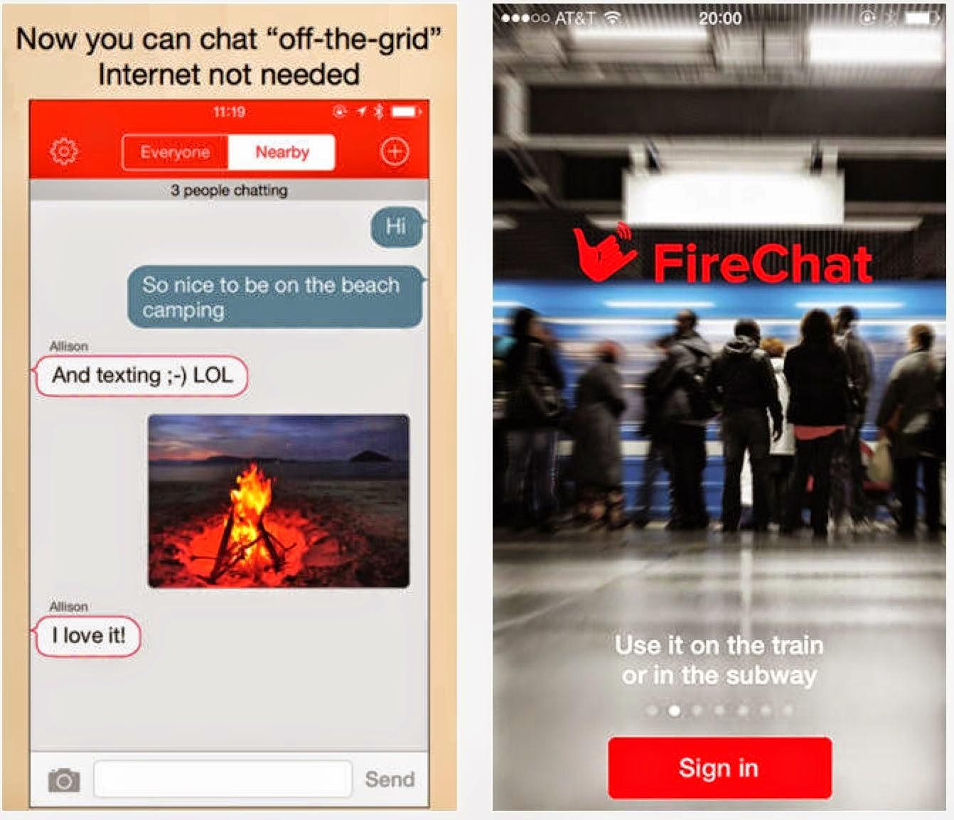 Kirim Pesan/Chat Gratis Tanpa Koneksi Internet Dengan Aplikasi FireChat