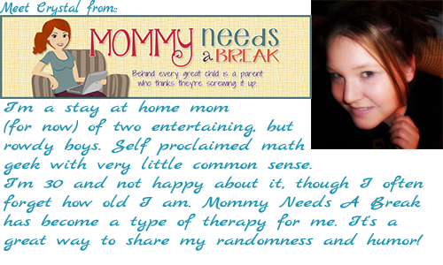http://www.mommyneedsabreak.org/