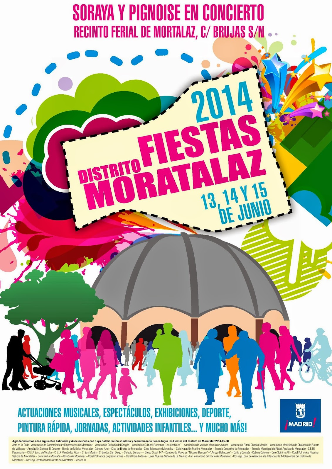 Cartel de las Fiestas de Moratalaz 2014