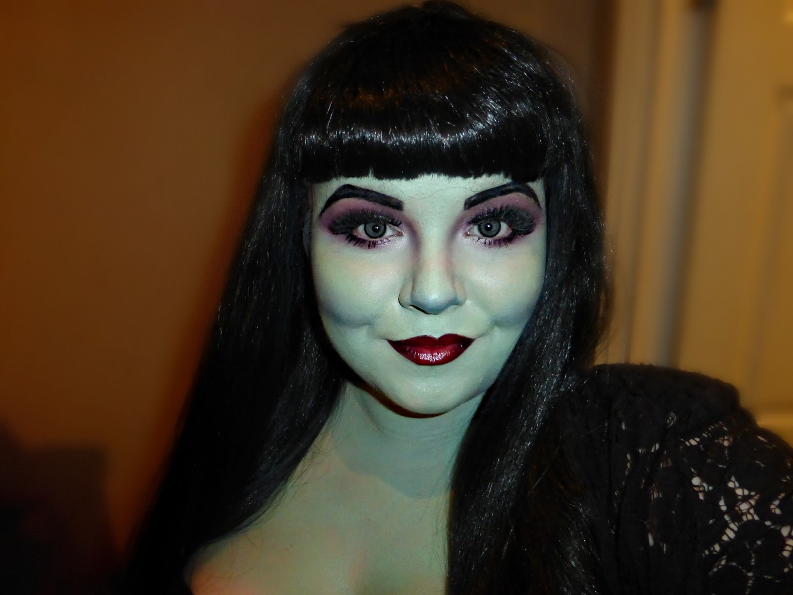 Halloween Makeup: Modern Green Witch