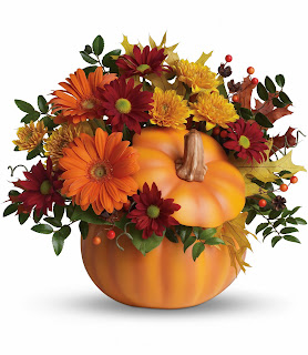 Send Fall Flowers with the Teleflora Country Pumpkin
