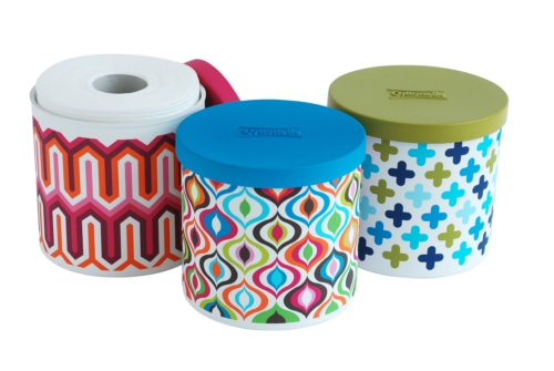 To da loos: Jonathan Adler designs spare toilet paper roll covers ...