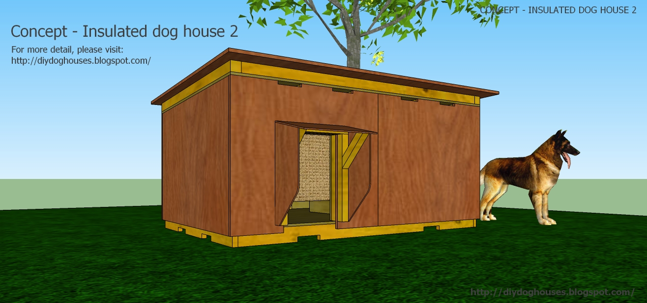Insulated dog house plans for large dogs free - photo#13