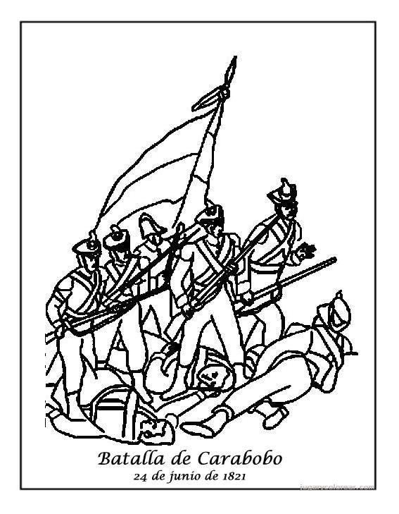PARA IMPRIMIR Y RECORTAR: Batallas de las Independencias Para Colorear