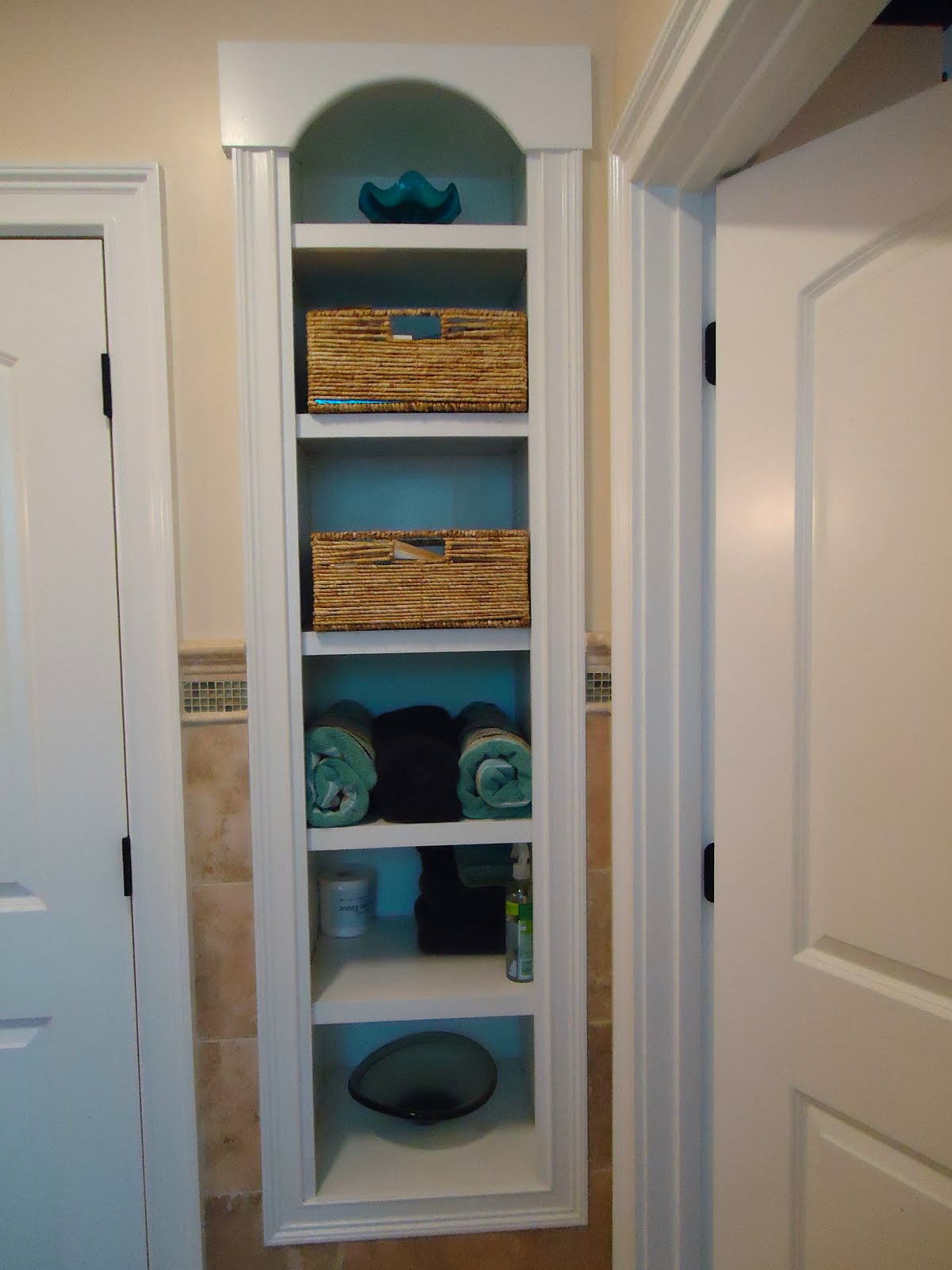 Awesome  Shelves In Bathroom Nook On Pinterest  Floating Shelves Bathroom