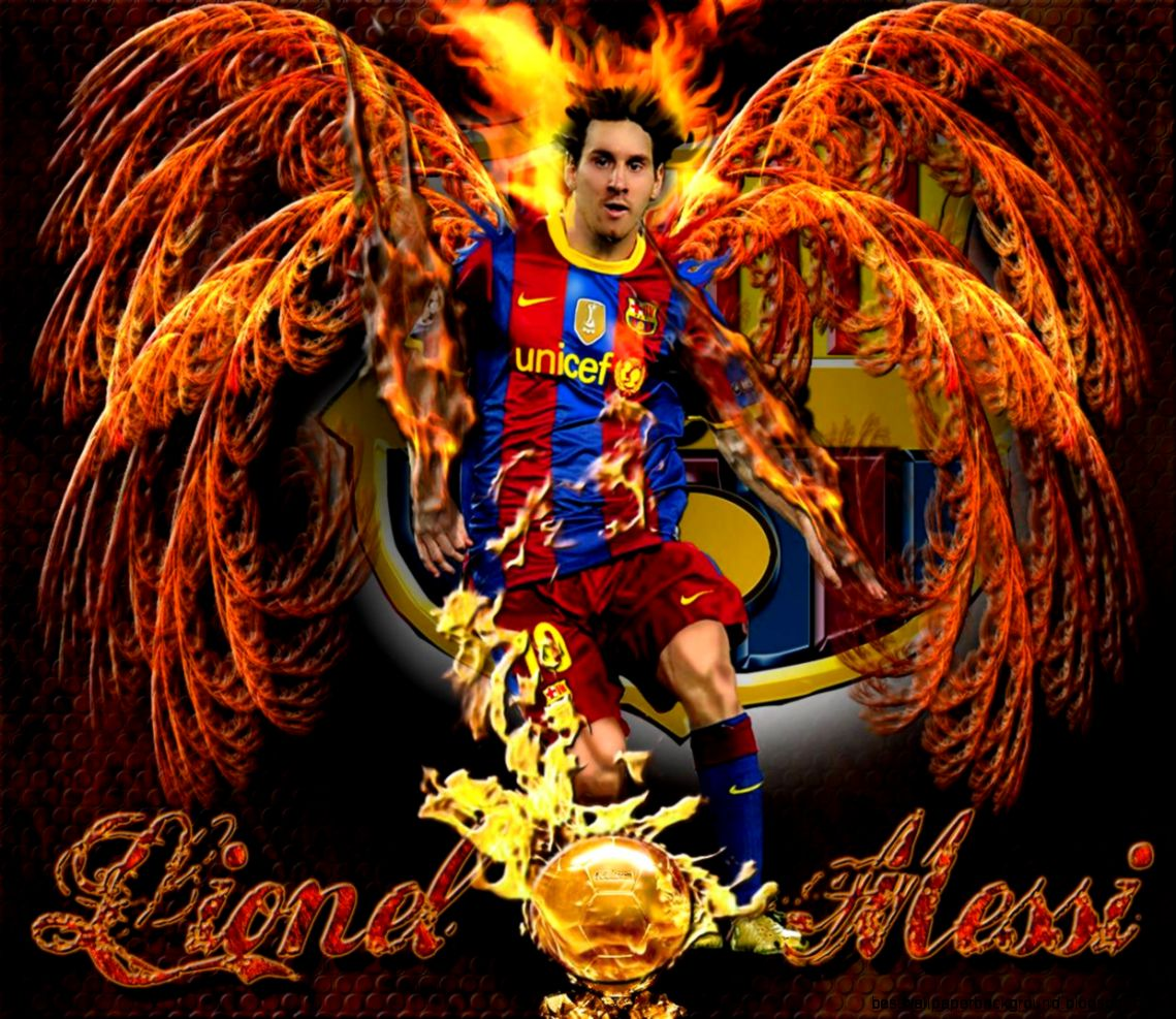 mesi angel red   Lionel Messi Wallpaper