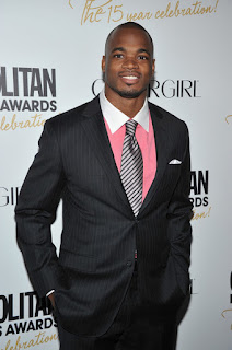 Adrian Peterson of the Minnesote Vikings attends the Cosmopolitan Fun Fearless Men and Women of 2012 at the Mandarin Oriental Ballroom on March 5, 2012 in New York City. (March 4, 2012 - Source: Theo Wargo/Getty Images North America)
