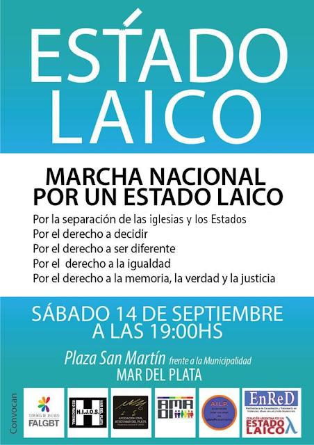 Marcha Nacional por el Estado Laico - 14 de septiembre de 2013 - Mar del Plata
