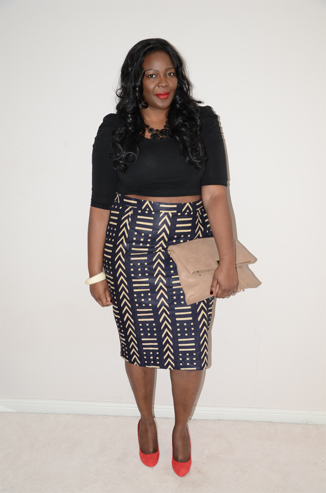 {OUTFIT POST DIY CROP TOP AND MUD CLOTH} - My Curves And Curls