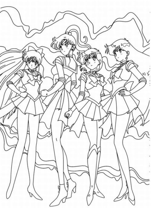 sailor moon coloring pages characters - photo#5