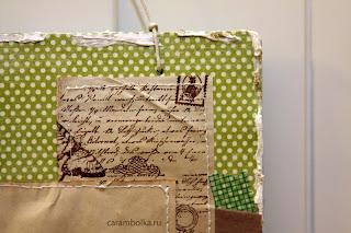 Скрап-рамка своими руками. Бумага для скрапбукинга, кружево, шабби-лента, штампы, тонированная в кофе бумага, скотч, подвеска, шнур, рельефная паста.