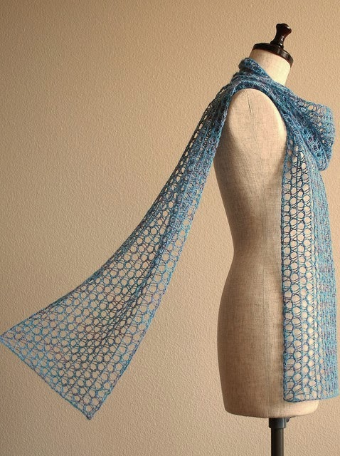 knitted scarf lace