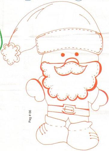 Papai Noel de EVA com molde