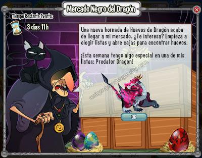 imagen del dragon depredador en el mercado negro del dragon