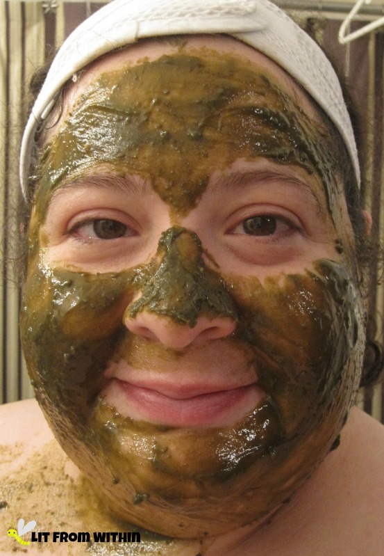 My green face with InstaNatural Seaweed powder made into a masque