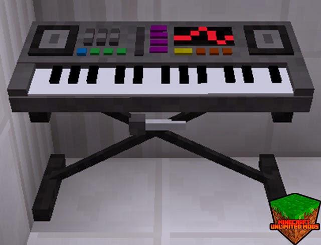 MusicCraft Mod teclado