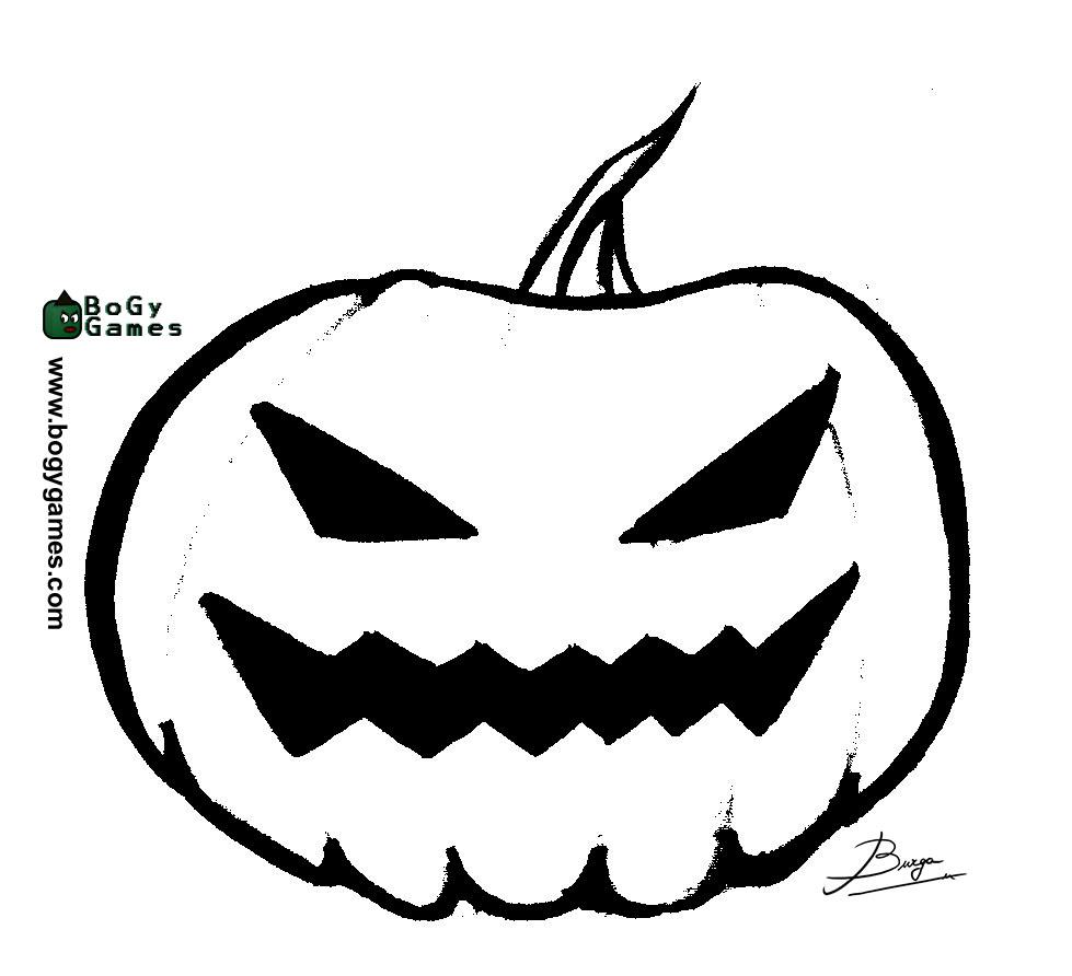 Encantador Calabazas De Halloween Para Colorear Composición ...