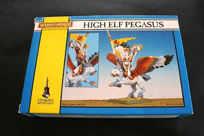 Portada de la caja de High Elf Pegasus Rider