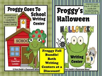 http://www.teacherspayteachers.com/Product/Bundled-Froggy-FALL-Two-Pack-Writing-Center-for-Common-Core-756747