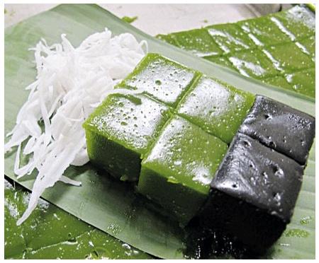 ขนมเปียกปูน_ウルチ粉のココナッツプリン_Rice Flour Custard