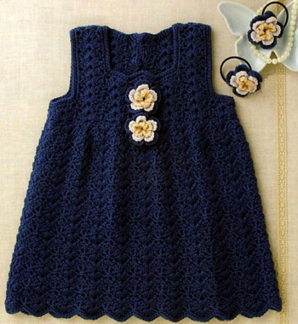 Beautiful Jumper Dress for Girls - Crochet Diagram