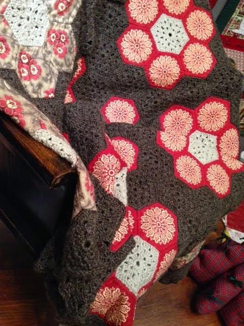 Colcha granny tela y lana
