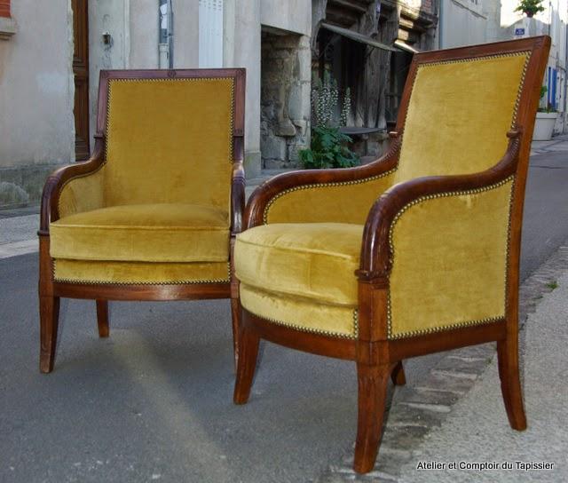 atelier et comptoir du tapissier berg res empire. Black Bedroom Furniture Sets. Home Design Ideas