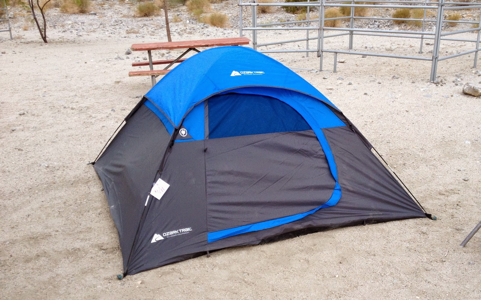 Back at Lake Cahuilla and a New Ozark Trail Tent & WC Welding; Metal Work Banjo Camping some food but Mostly ...