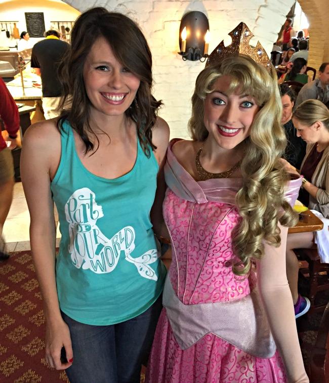 Disney World Recap - Sleeping Beauty / Aurora at Akershus. My mum thought this was Rapunzel!