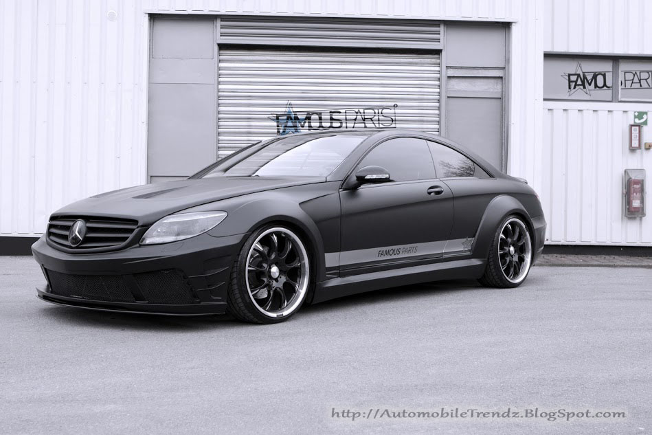 Automobile trendz matte black mercedes benz cl 500 for Matte mercedes benz