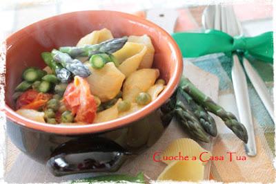 conchiglie agli asparagi croccanti