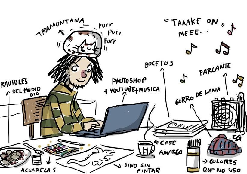 Ernesto dibuja ilustración