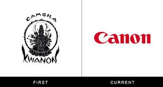 évolution du logo britsh canon
