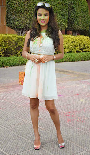 Jyoti Seth Celebrating Holi 2015 in Novotel  Spicy Babe in tight Mini Dress