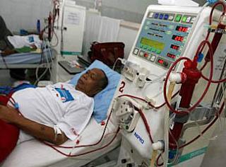 Proses cuci darah bagi penderita gagal ginjal