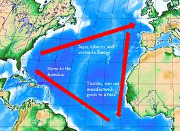 Map of Triangular Slave Trade