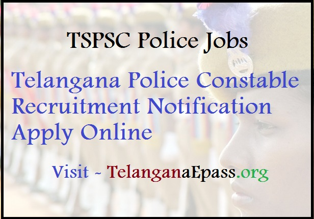 tspsc police constable notification