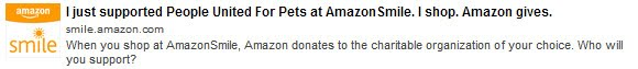 Did you know you can support shelter pets with your Amazon.com purchases?