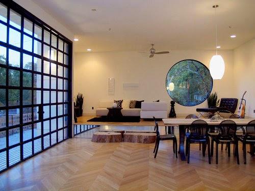 barcelona modern interior design with glass door knobs
