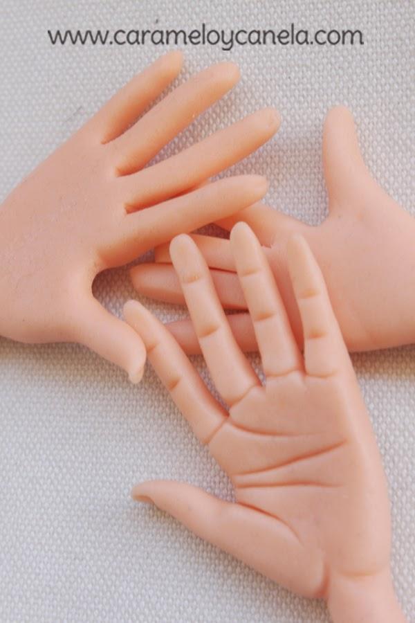 tutorial mano, tuto hand, sugarcraft, art in sugar, paso a paso de una mano, como modelar una mano en fondant y pasta de azúcar