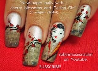 Robin moses nail art cherry blossom nail art cherry blossoms nail art flower nail designs prinsesfo Images