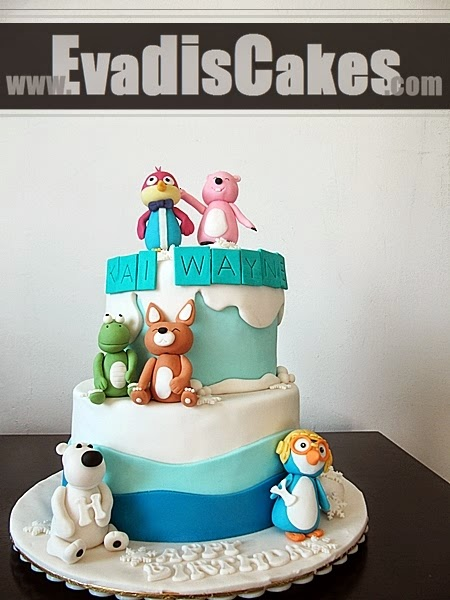 Pororo Friend's theme cakes overall view