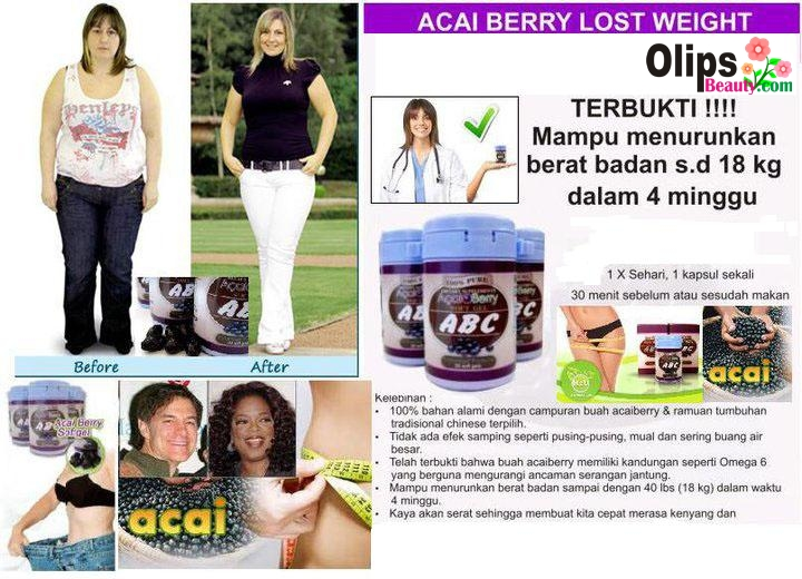 Hasil Suplemen ABC Acai Berry Slimming Softgels