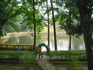 Lake by the house of Ho Chi Minh - Hanoi - Vietnam